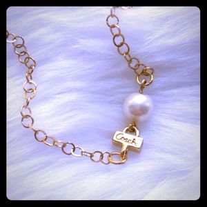 Rare! Authentic Coach Pearl Gold Plated Bracelet
